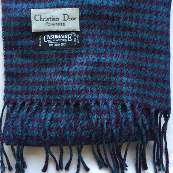 Christian Dior Accessories   Echarpes Cashmaire Scarf   Poshmark ee3025fed5c